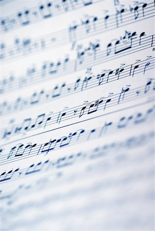 Close-up of sheet music Stock Photo - Premium Royalty-Free, Code: 625-00898496