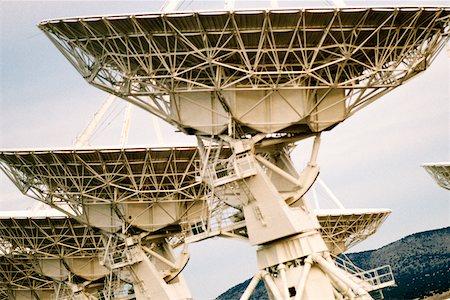 radio telescope - Low angle view of radio telescopes, VLA radio telescope, New Mexico, USA Stock Photo - Premium Royalty-Free, Code: 625-00898644