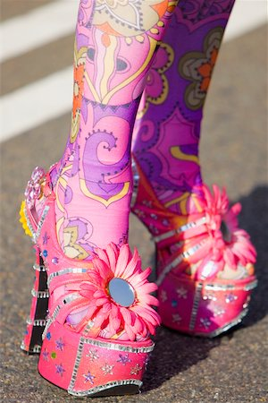 stocking feet - Close-up of a person's painted legs in high heels Stock Photo - Premium Royalty-Free, Code: 625-01097140