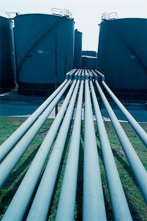 Oil storage tanks, New Orleans Stock Photo - Premium Royalty-Free, Code: 625-01251121