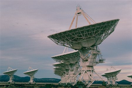 radio telescope - Radio telescopes, New Mexico Stock Photo - Premium Royalty-Free, Code: 625-01252337
