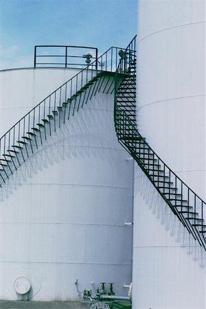 Oil storage tanks Stock Photo - Premium Royalty-Free, Code: 625-01252398