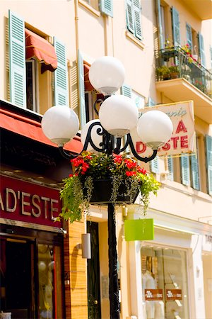 Lamppost in front of a building, Nice, France Stock Photo - Premium Royalty-Free, Code: 625-01751489