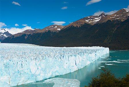 perito moreno glacier - Glacier in a lake with mountains in the background, Moreno Glacier Argentine Glaciers National Park, Lake Argentino, El Calafate, Stock Photo - Premium Royalty-Free, Code: 625-01751743