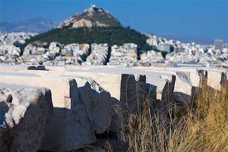 Stones in front of a hill, Lycabettus Hill, Athens, Greece Stock Photo - Premium Royalty-Free, Code: 625-01752289