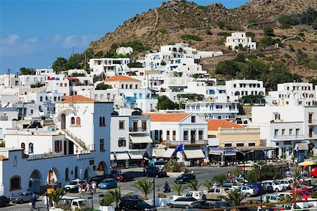 Buildings in a city, Patmos, Dodecanese Islands, Greece Stock Photo - Premium Royalty-Free, Code: 625-01752650