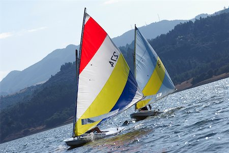 sports and sailing - Sailboats participating in a race Stock Photo - Premium Royalty-Free, Code: 625-02266401