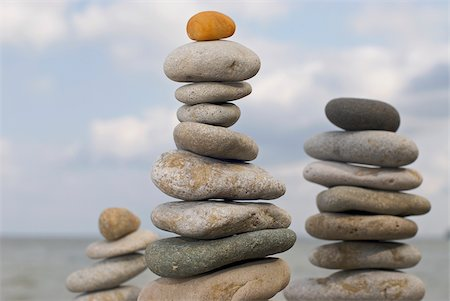 smooth - Close-up of stacks of stones Stock Photo - Premium Royalty-Free, Code: 625-02926914