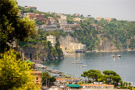 european hillside town - Town at a hillside, Marina Grande, Capri, Sorrento, Sorrentine Peninsula, Naples Province, Campania, Italy Stock Photo - Premium Royalty-Free, Code: 625-02928029