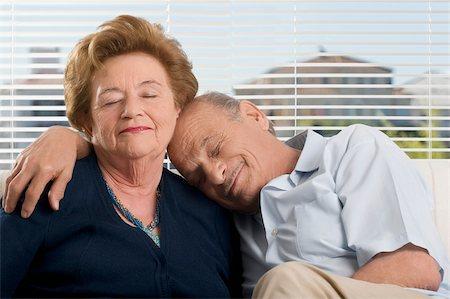sleepy old woman - Senior couple resting Stock Photo - Premium Royalty-Free, Code: 625-02932517