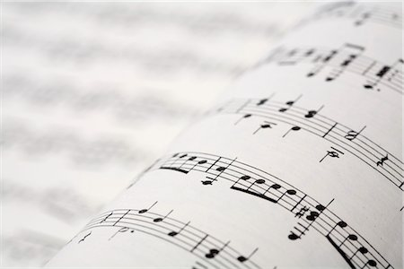 Musical score Stock Photo - Premium Royalty-Free, Code: 628-05817308
