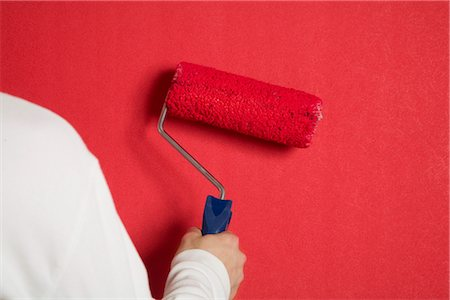 Wall is being painted in red, Germany Stock Photo - Premium Royalty-Free, Code: 628-05817325
