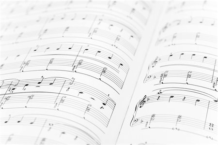 sheet music background - Detail of a sheet of music Stock Photo - Premium Royalty-Free, Code: 628-05817366