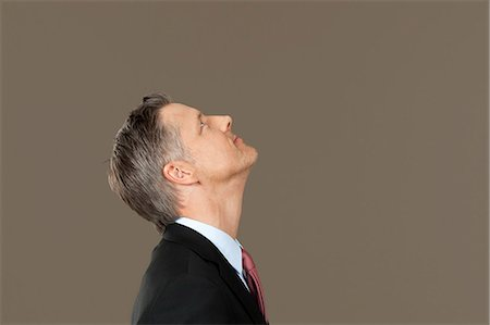 expectation - Businessman looking up Stock Photo - Premium Royalty-Free, Code: 628-07072233