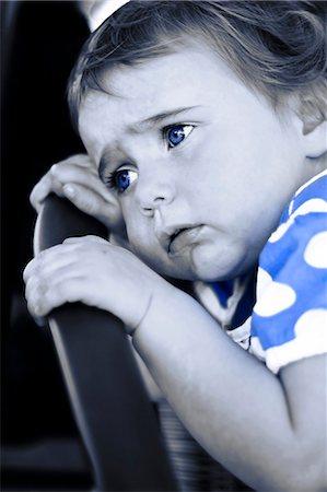 sad girls - Sad toddler with blue eyes Stock Photo - Premium Royalty-Free, Code: 628-07072640