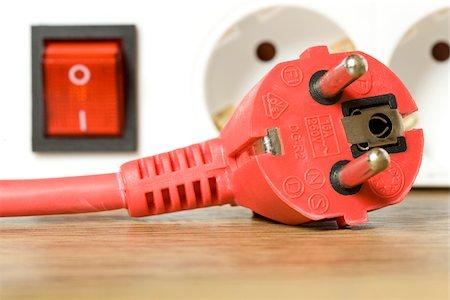 Red power plug, Germany Stock Photo - Premium Royalty-Free, Code: 628-02953698