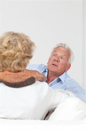 Senior couple arguing Stock Photo - Premium Royalty-Free, Code: 628-03201176