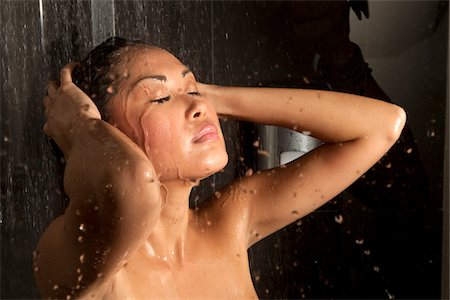 shower - Young woman in shower Stock Photo - Premium Royalty-Free, Code: 621-05602951