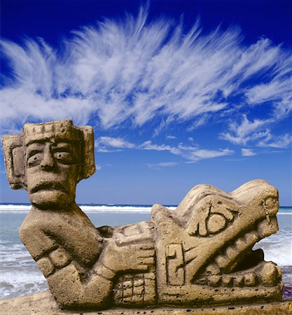Chaac Mool in Cancun, Mexico Stock Photo - Premium Royalty-Free, Code: 621-00739792