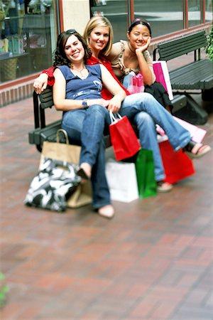 Teenage shopping trio Stock Photo - Premium Royalty-Free, Code: 621-00744183