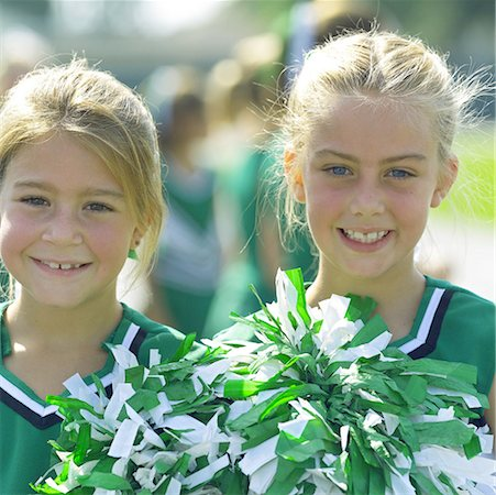 Little Cheerleaders Stock Photo - Premium Royalty-Free, Code: 621-00745496
