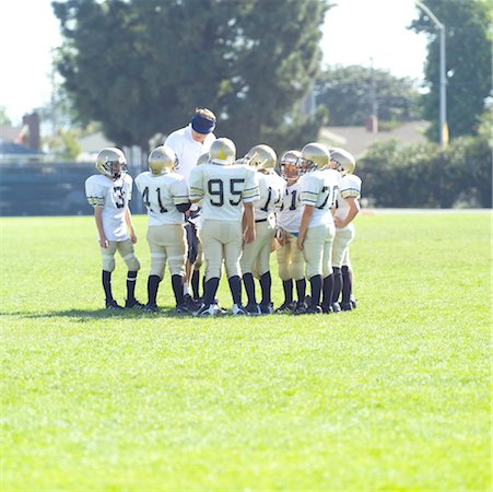 Pee Wee Football Team Stock Photo - Premium Royalty-Free, Code: 621-00745553