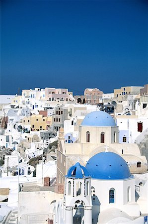 Roof Tops of Santorini, Greece Stock Photo - Premium Royalty-Free, Code: 621-00740666