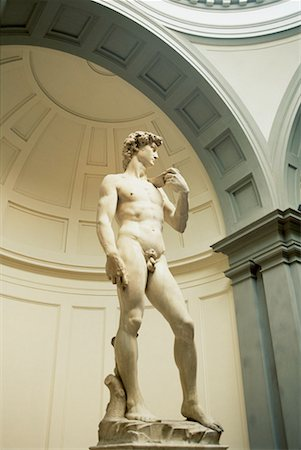 statue of david - Michelangelo's David, Florence, Italy Stock Photo - Premium Royalty-Free, Code: 621-00740710