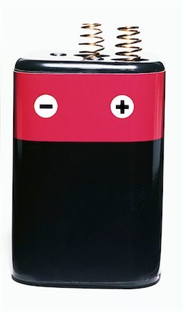 Battery on White Stock Photo - Premium Royalty-Free, Code: 621-00788129