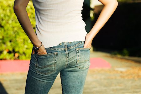 Woman's Rear End in Jeans Stock Photo - Premium Royalty-Free, Code: 621-00994694