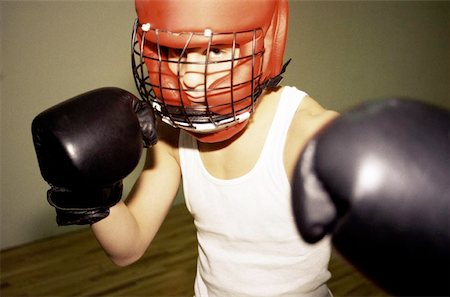 Boxer's Stance Stock Photo - Premium Royalty-Free, Code: 621-01006212