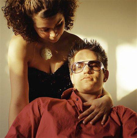Trendy Affectionate Couple Stock Photo - Premium Royalty-Free, Code: 621-01006720
