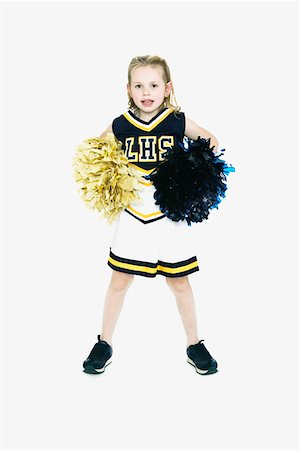 Little Girl in Cheerleader Costume Stock Photo - Premium Royalty-Free, Code: 621-01008107