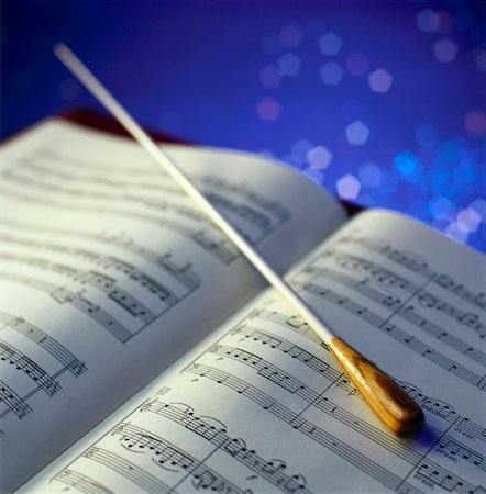 picture of music staff with notes -  Stock Photo - Premium Royalty-Free, Code: 621-01226164