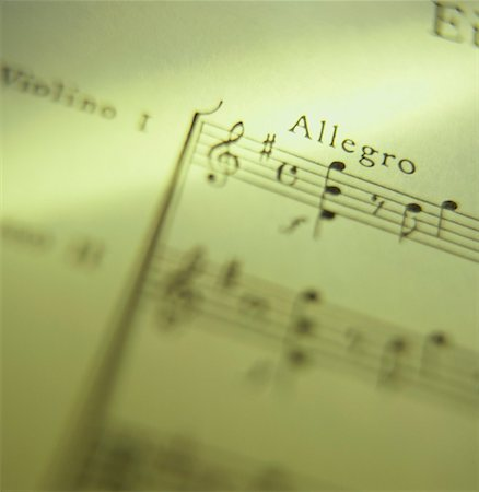 sheet music background -  Stock Photo - Premium Royalty-Free, Code: 621-01226162