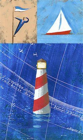 sailing boat storm - Navigating the Business World Stock Photo - Premium Royalty-Free, Code: 621-01228282