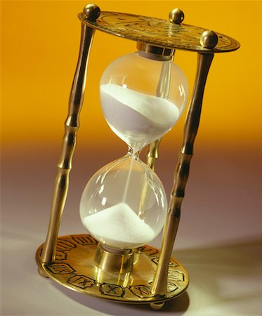 sand clock - Hourglass Stock Photo - Premium Royalty-Free, Code: 621-01229635