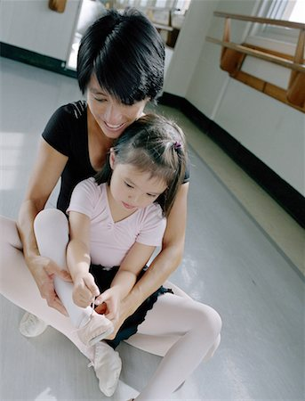 Putting On Ballet Slippers Stock Photo - Premium Royalty-Free, Code: 621-01230243