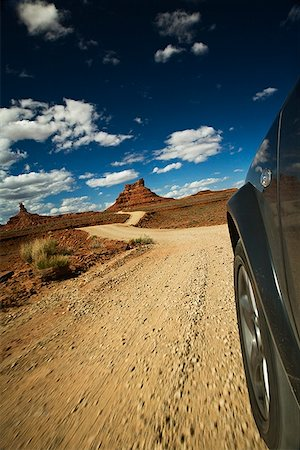 road landscape - Car driving through Valley of the Gods, Utah, USA Stock Photo - Premium Royalty-Free, Code: 621-02085954