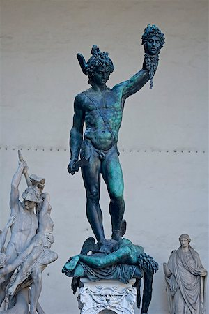 Statue of Perseus with slain Medusa by Cellini Stock Photo - Premium Royalty-Free, Code: 621-02159999