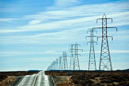 Electrical pylons Stock Photo - Premium Royalty-Free, Code: 621-02279045
