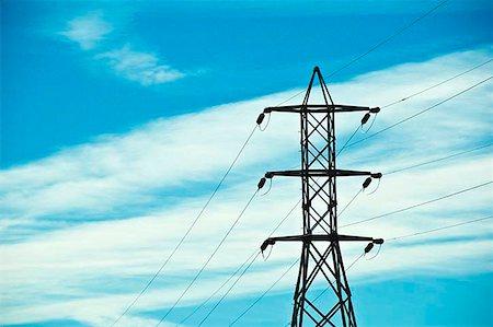 Electrical pylons Stock Photo - Premium Royalty-Free, Code: 621-02279046
