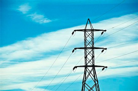 Electrical pylons Stock Photo - Premium Royalty-Free, Code: 621-02279046
