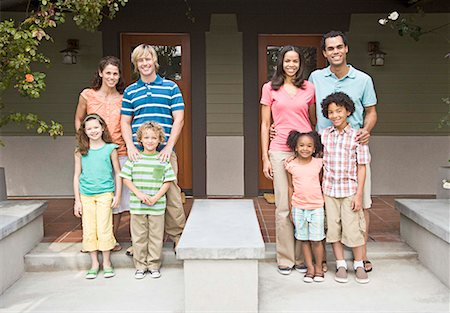 Neighbors on porch Stock Photo - Premium Royalty-Free, Code: 621-02279512