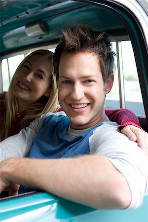 female truck driver - Smiling couple in truck Stock Photo - Premium Royalty-Free, Code: 621-02358111