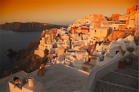 Sunrise in Oia, Santorini Stock Photo - Premium Royalty-Free, Code: 621-03598170