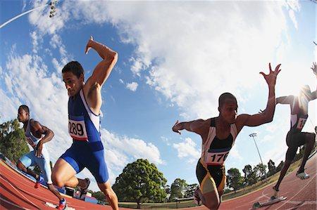sprint - Runners Starting Off Stock Photo - Premium Royalty-Free, Code: 622-05602843