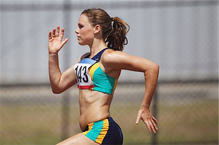 race track (people) - Female Runner Stock Photo - Premium Royalty-Free, Code: 622-05602893