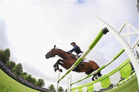 equestrian - Horseback Rider Jumping Hurdle Stock Photo - Premium Royalty-Free, Code: 622-05786757