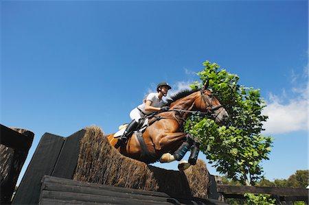 equestrian - Woman Horseback Rider Jumping Horse Stock Photo - Premium Royalty-Free, Code: 622-05786793